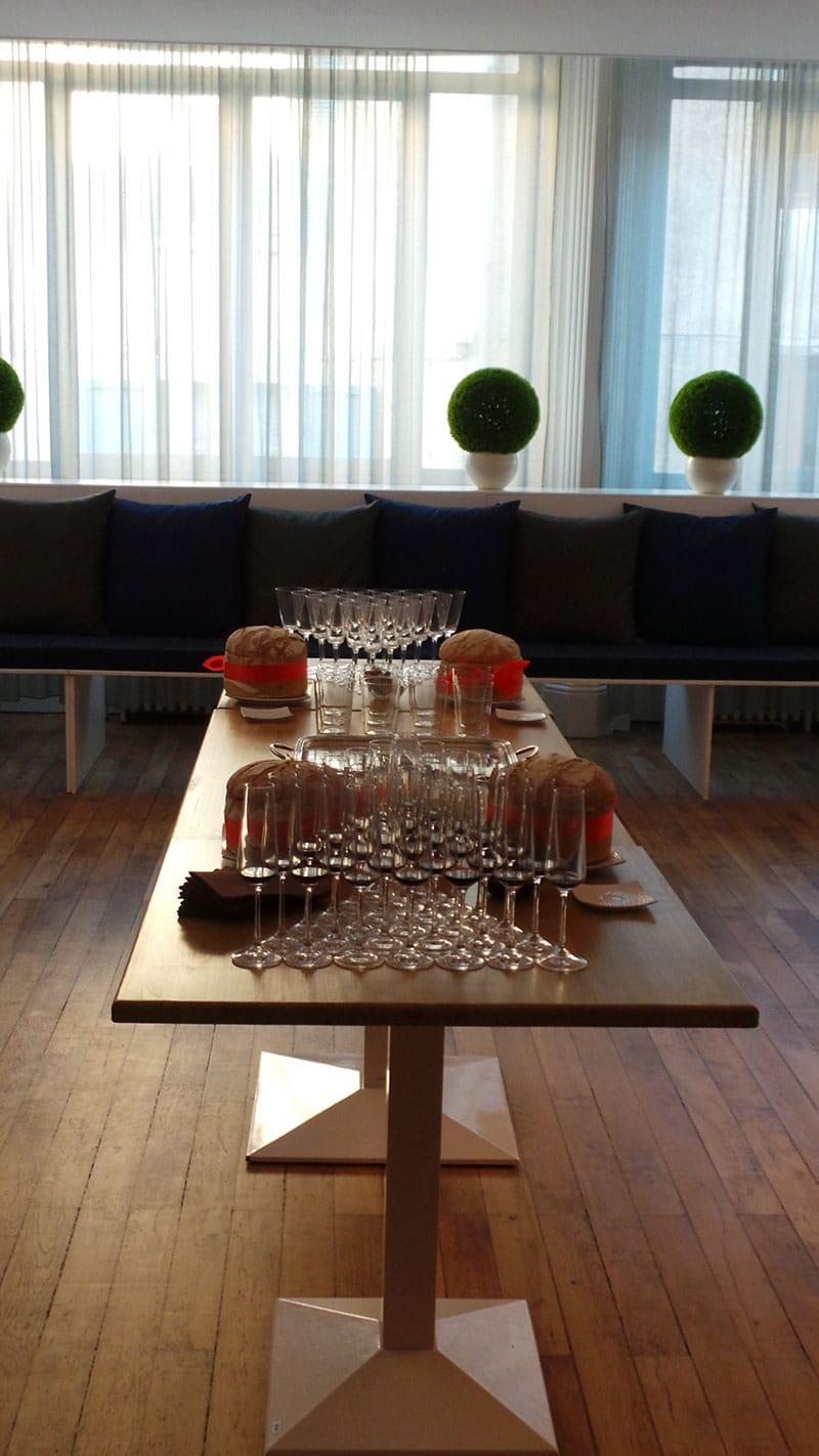 table séminaire nouvel hotel
